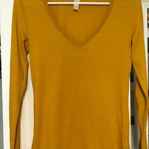 Threads 4 Thought Tops - Yellow Long Sleeve T-shirt